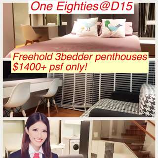 Freehold Penthouses@d15 $1400psf only!