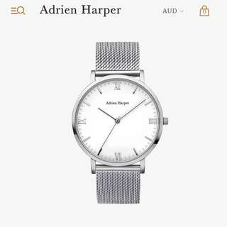 Adrien Harper London minimalistic mesh timepiece watch