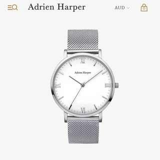 Adrien Harper London minimalistic mesh timepiece watch