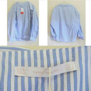 Zara trafaluc blue stripped
