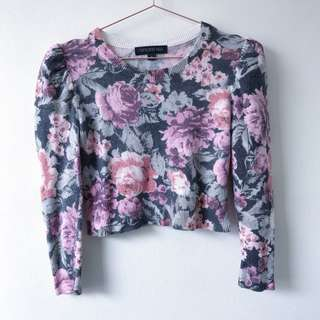 Forever New Size 6 Crop Sweater Angora Jumpe