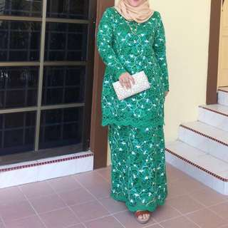 Custom Made Baju Kurung Moden Full Lace