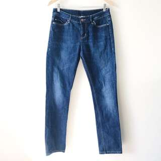 Witchery 29x32 Size 10 Tapered Stretch Low-Rise Jeans