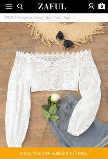 Zaful Lace-up Crop Top