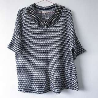 Zara Trafaluc Size Medium Stud Knitted Sweater Jumper
