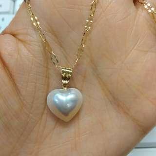 Tasaki 18k mabe pearl pendant like new