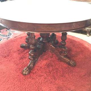 Peranakan teak wood carved table tel:84842474