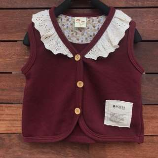 *UNWORN* girls lace vest size 3