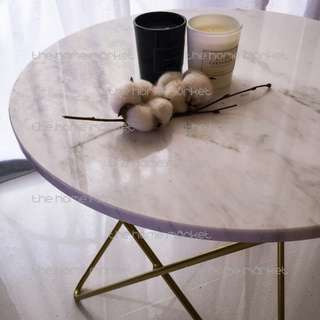 Clearance Sale! Modern Luxe Marble Top Side Table