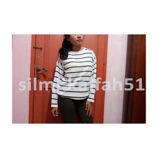 Stripe Knitted // Sweater Garis garis