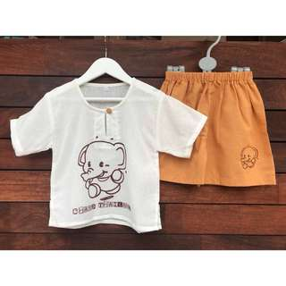 *NEW* Boys linen set size 1 (18 Months)