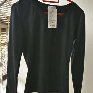 Brand new long sleeve cotton shirt, black