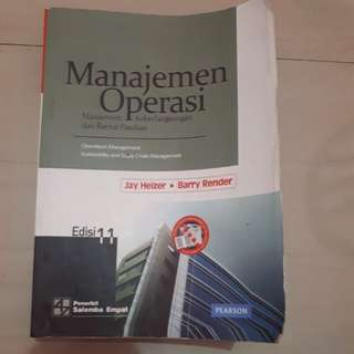 Manajemen Operasi Edisi 11 Jay Heize Barry Render