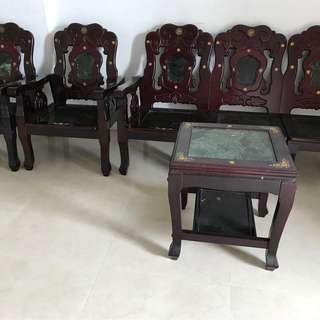 Antique furniture (3+1+1, 1+1) for Sale