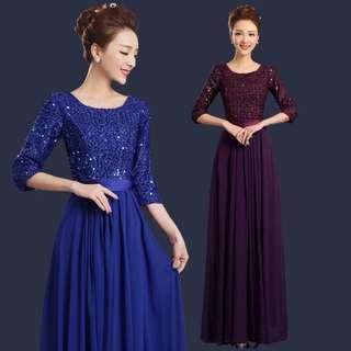 Blue/purple sequin dress / Evening Gown