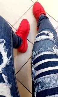 Red Adidas Tubulars