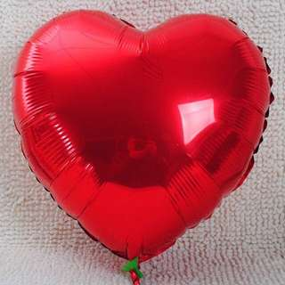 80cm (XL) red/pink heart shape foil balloon