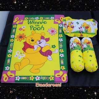 MURAH Matras Bayi Set Bantal Guling Karakter Winnie The Pooh lucu perlengkapab Bayi