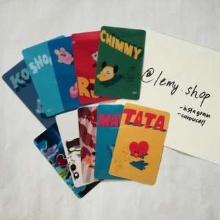 BT21 LOMO CARD 10 PCS (Unofficial Item)