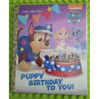 [Re-stock] - Puppy Birthday to You! (Paw Patrol) (Little Golden Book)