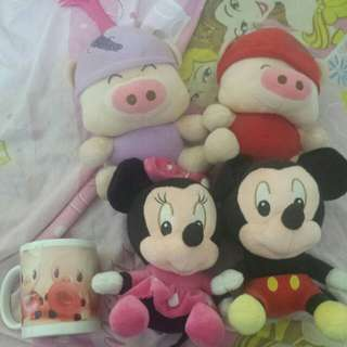 🐁🐷Cute mini stuffed toys🐷🐁