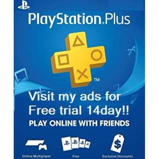 Playstation Plus Membership 3/12 Months - PS3/ PS4/ PS Vita #15Off