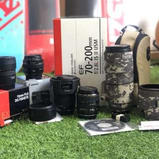 Used Canon And Sigma lenses