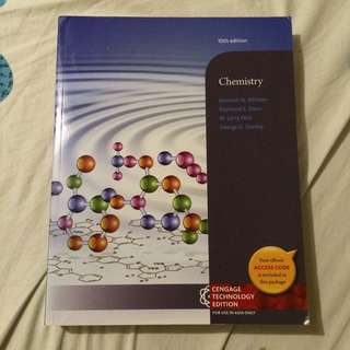 CHEMISTRY CENGAGE TECHNOLOGY 10TH EDITION BY KENNETH WHITTEN, RAYMOND DAVIS, LARRY PECK, AND GEORGE STANLEY