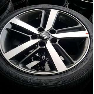 """Kia K3 17"""" Stock Rim and Tyres (TRADE BACK FROM NEW CAR)"""