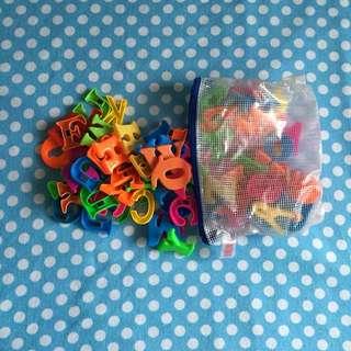 3 sets of Alphabet Magnets