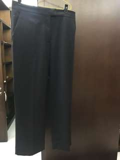 COS Checked Straight Cut Pants