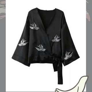 Blazer bird black