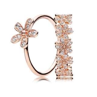 Pandora Rose Dazzling Daisy Ring Stack