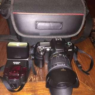 Non digital film camera: Nikon F60 Film camera With Tamron 28-200mm Lens And SIGMA ST Flash
