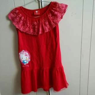 HELLO KITTY Red Lace Dress