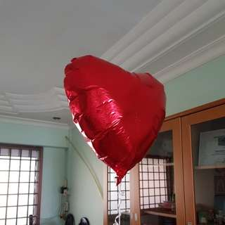 18 inch red heart shaped foil