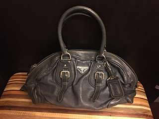 Prada greyish blue handbag