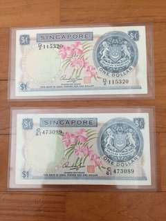 2 x $1 orchid series