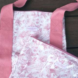 [NEW] Crabtree & Evelyn LONDON Pink Travel Bag set #15Off