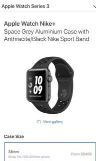 Apple Watch series3 Nike
