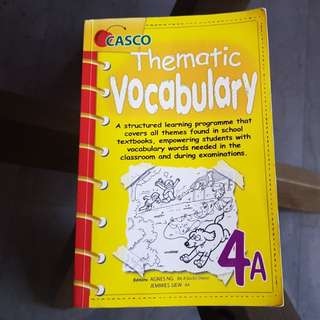 English Thematic Vocabulary- 4A