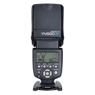[BNIB] Yongnuo YN560 Mk IV Manual Speedlight w/free diffuser