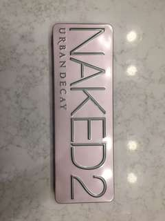 Naked 2 Palette - never used only swatched