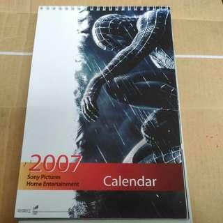 2007年 座枱月曆 SONY PICTURES 英語電影劇照紀念品