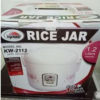 Kyowa KW-2112 Jar Type Rice Cooker with Steamer 1.2L