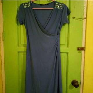 Wrap around Beaded Dress