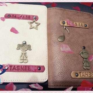 Personalised passport cover / Passport Holder / Passport Case / Personalized Passport Cover
