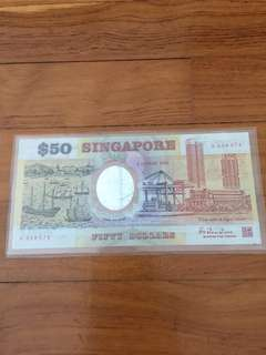 Singapore 1990 25th anniversary commemorative notes