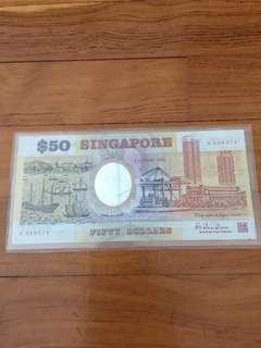 Singapore 1990 25th anniversary commemorative notes