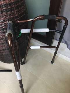 2 walking stick & foldable wheelchair